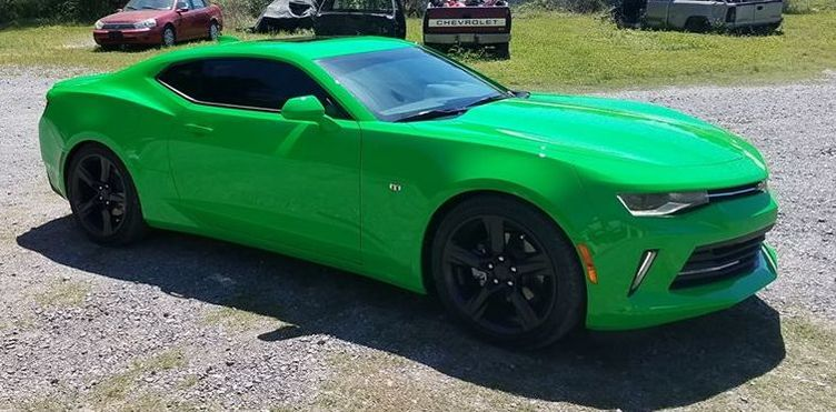 Green comaro tinted in Benton Ar beautiful car